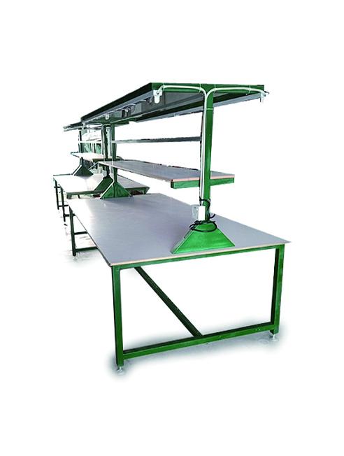 双工位防静电胶皮工作台