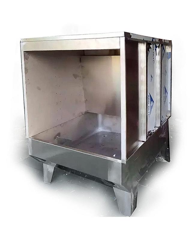 单工位全不锈钢水帘柜